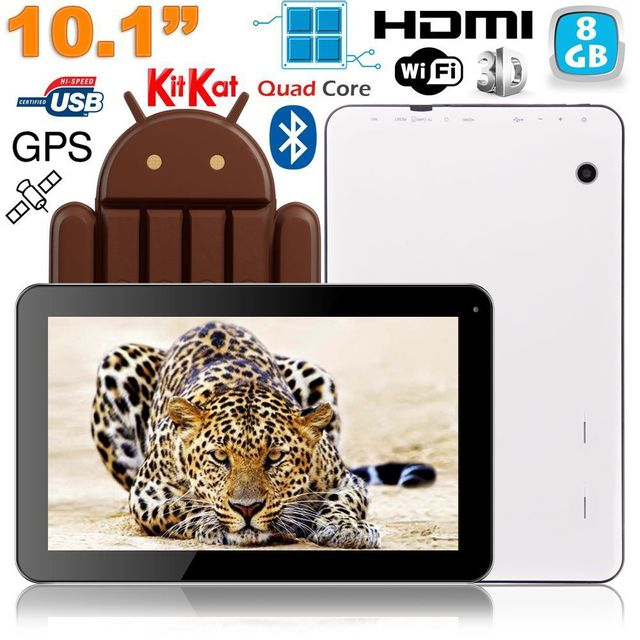 Yonis Tablette 10 pouces Android 4.4 Quad Core Gps Hdmi Bluetooth 8 Go