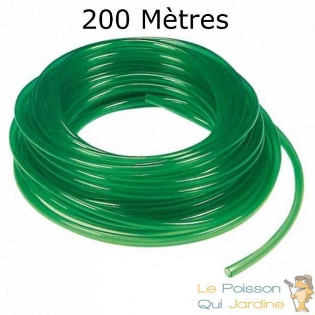 Le Poisson Qui Jardine 200 mètres de tuyau Vert 4/6 mm pour pompe à air aquarium et bassin