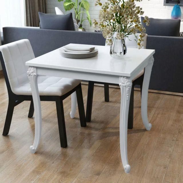 sublime Tables edition Reykjavik Table de salle à manger 80 x 80 x 76 cm Laquée Blanche