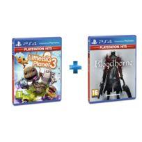 SONY - 2 jeux PS4 HITS : LITTLEBIGPLANET 3 + BLOODBORNE