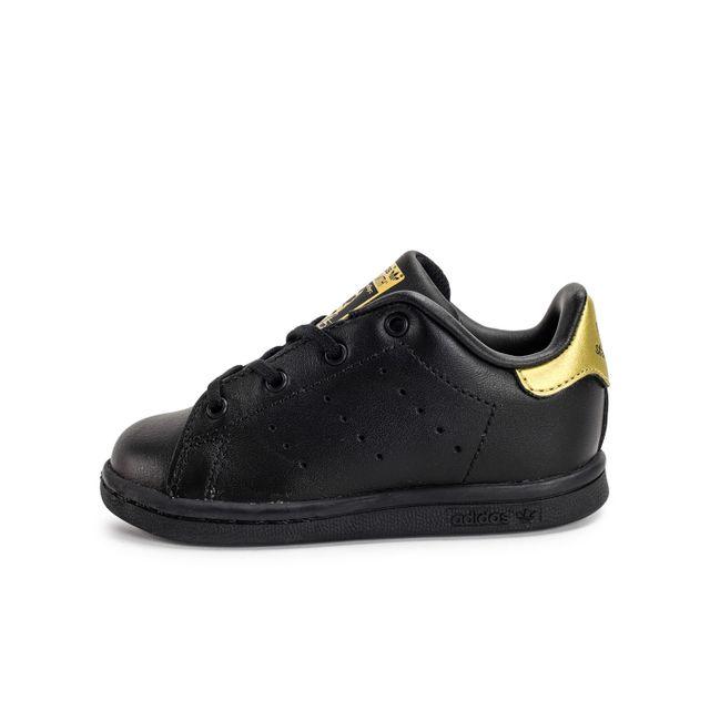 Adidas originals Stan Smith Bébé Noire Et Or pas cher