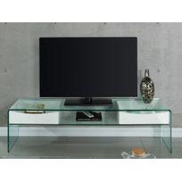Meuble tv verre trempe achat meuble tv verre trempe pas for Meuble tv rue du commerce
