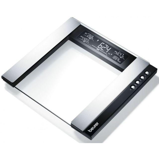 BEURER Impédancemètre - en verre écran XXL Une activité physique suffisante, un régime sain et un poids de forme sont essentiels à votre santé.La gamme de pèse-personnes arrondis allant des pèse-personnes imp&eacu