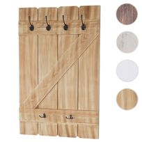 Mendler - Tablette murale, porte-tasse Aprilia, étagère / vestiaire / planche à crochets ~ pin