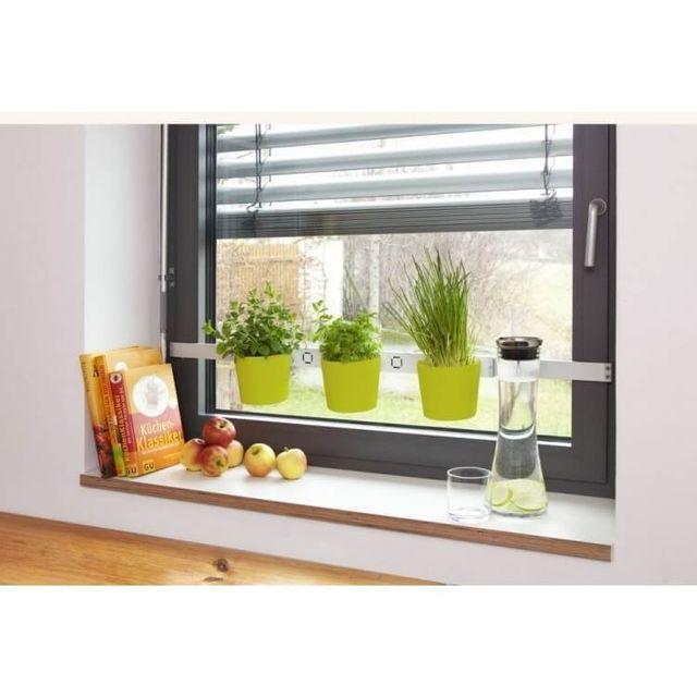 Empasa Pots pour Plantes et Herbes Aromatiques à suspendre Vega - Aluminium Plas. Vert