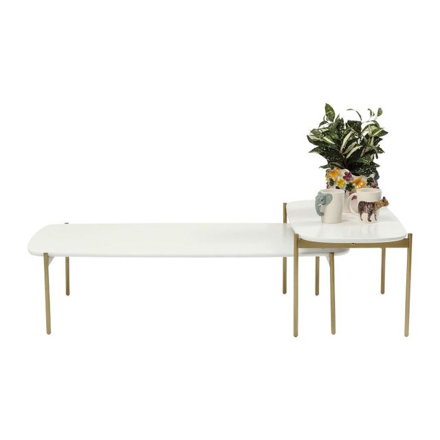 Karedesign Tables basses Miami Gardens blanche set de 2 Kare Design