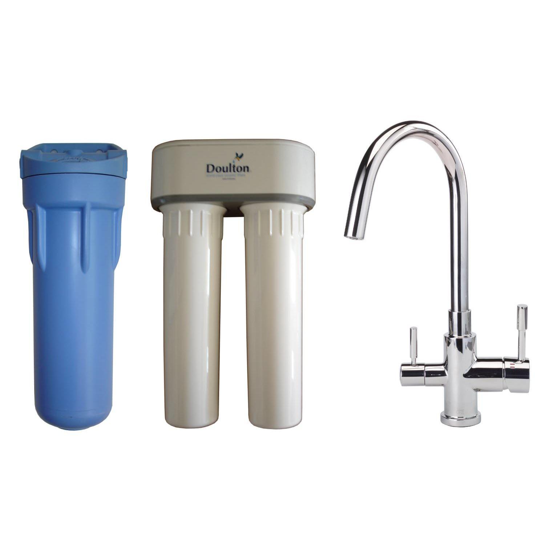 Aqua-techniques - Filtre à eau Doulton Duo Rn + mitigeur 3 voies brillant