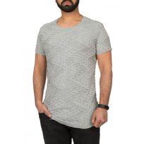 Beststyle - T-shirt homme troué gris