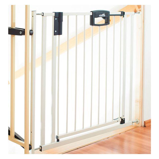 Geuther barri re d 39 escaliers easylock blanc 84 5 92 5 cm pas cher achat vente barri res - Barriere escalier pas cher ...