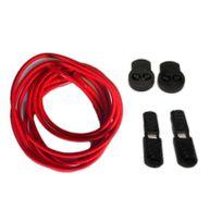 Neon - Kit lacets élastiques rond sans noeud rouge 80cm