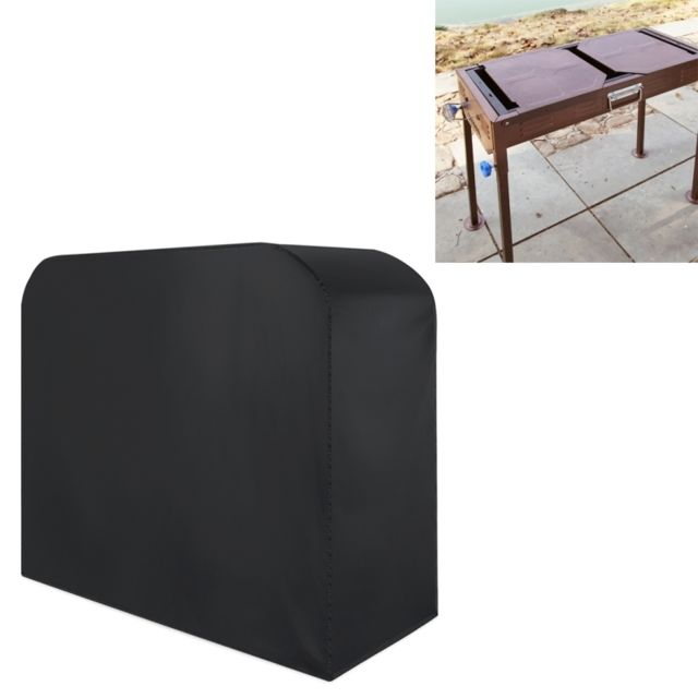Wewoo Anti-UV Étanche à la poussière noir Tissu Pliant Barbecue Housse de Protection En Plein Air Gaz Charbon Électrique Grill