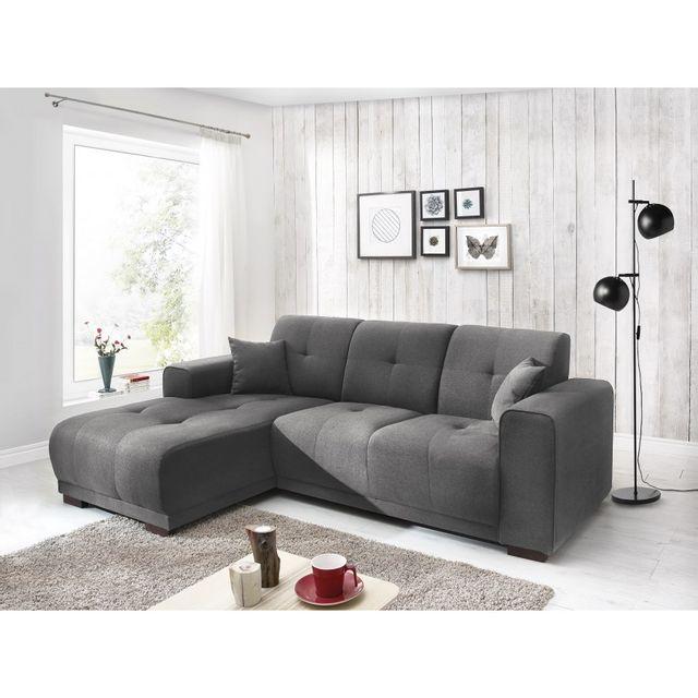 bobochic canap d 39 angle gauche fixe gris tissu 4 places lisbona achat vente canap s pas. Black Bedroom Furniture Sets. Home Design Ideas