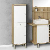 Creazur - Armoire de salle de bain réversible Carla - Blanc