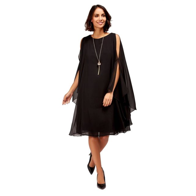 Tessy robe voile manches amples femme Couleur violet