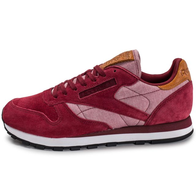 938312fe450 Reebok - Classic Leather Chambray Bordeaux Rouge - pas cher Achat ...