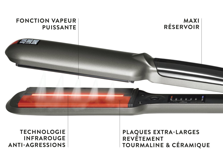 JEAN LOUIS DAVID Lisseur infrarouge + vapeur STEAM PROTECT - 235° max