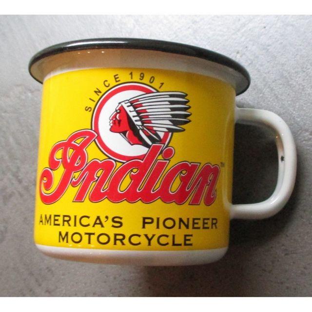 Universel Mug indian 1901 en email tasse à café emaillée tete d indien