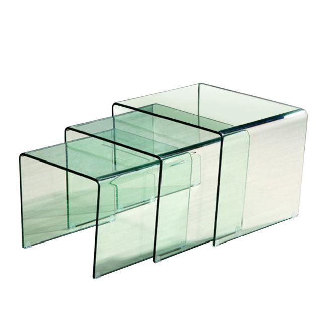 cote cosy table basse table d 39 appoint gigogne verre transparent astuce pas cher achat. Black Bedroom Furniture Sets. Home Design Ideas