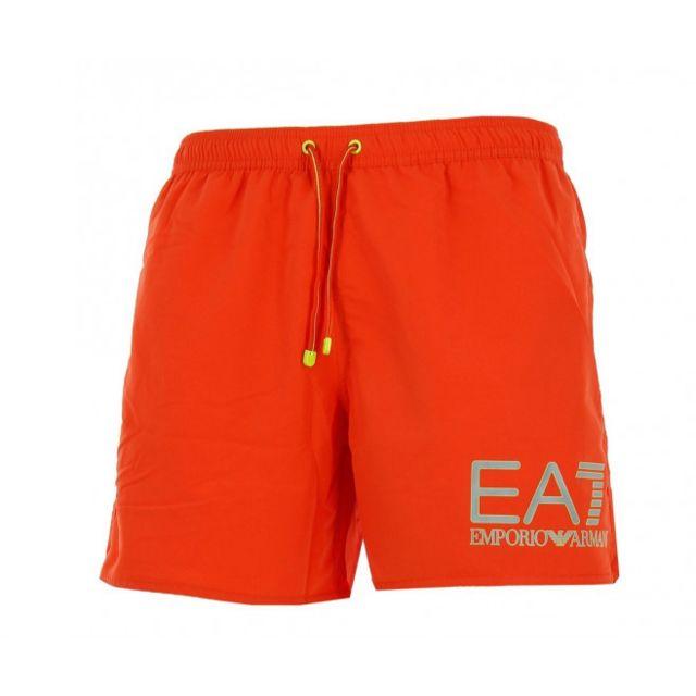 Ea7 Short de bain Emporio Armani Orange
