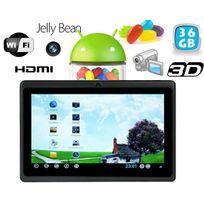 Yonis - Tablette tactile Android 4.1 Jelly Bean 7 pouces Hdmi 36 Go Noir