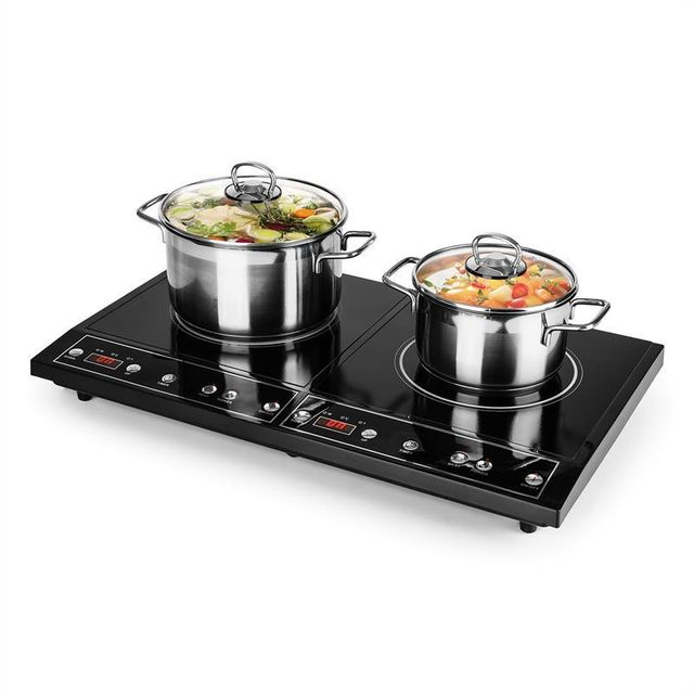 ONECONCEPT Chefzone Double plaque à induction encastrable timer 3400W 270