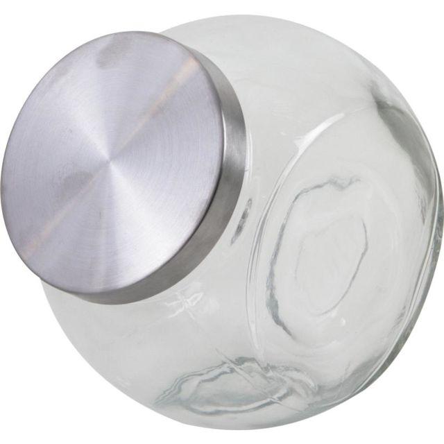 AUBRY GASPARD Bonbonnière en verre et métal
