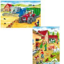 Schmidt - Puzzle 2 x 26 pièces - A la ferme