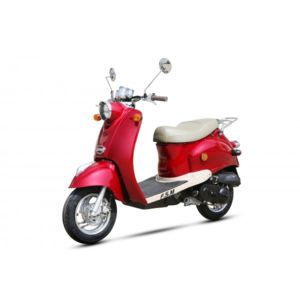 znen scooter retro 50cc rouge achat vente scooters. Black Bedroom Furniture Sets. Home Design Ideas
