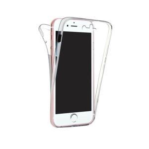 coque silicone gel transparent souple int grale avant arri re 360 pour iphone 8 plus pas cher. Black Bedroom Furniture Sets. Home Design Ideas