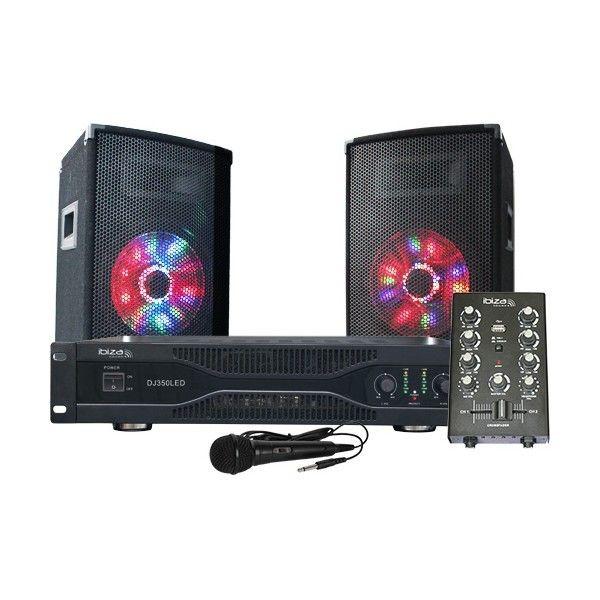 Ibiza Sound Ibiza Dj 350 Led - Kit de sonorisation complet avec éclairage led