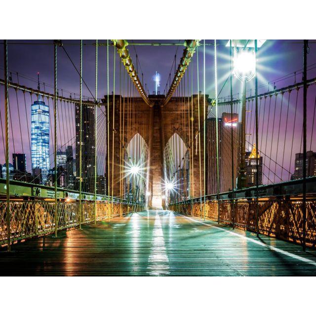 Bebe Gavroche Papier Peint New York Brooklyn Bridge Neon 360x255 cm