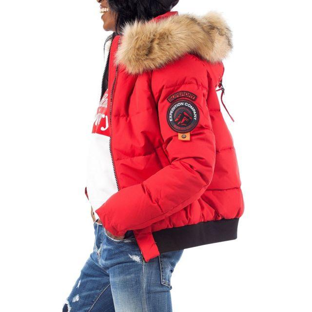 doudoune femme superdry rouge