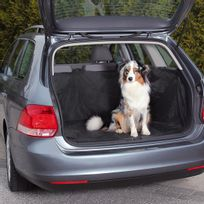 Trixie - Couverture noire de protection pour coffre de voiture Friends on tour pour chiens Taille L