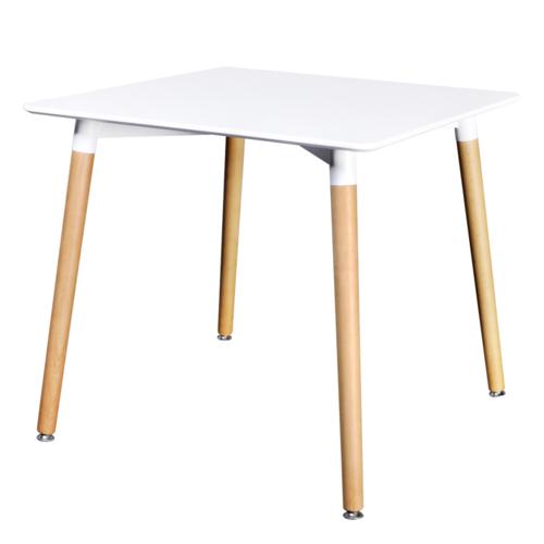 Vidaxl - Table de salle à manger carrée blanc mat
