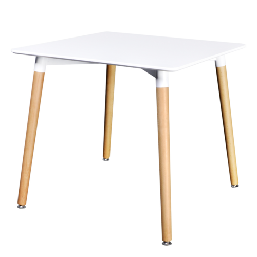 Vidaxl Table de salle à manger carrée blanc mat