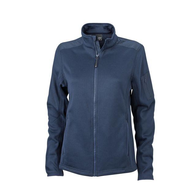 3657fecb6eb54 James   Nicholson - Veste tricot polaire Femme Jn590 - bleu marine - pas  cher Achat   Vente Blouson femme - RueDuCommerce