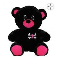 Sans Marque - Grande peluche ours pirate Noir et Rose 50cm