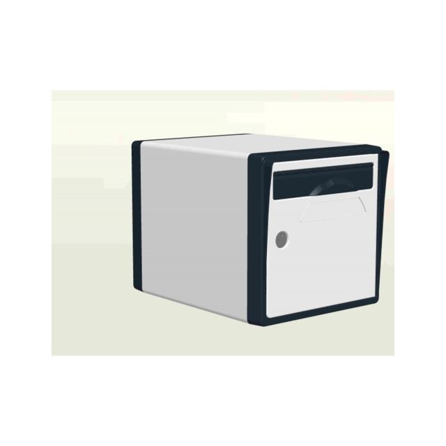 creastuce boite aux lettres 1 porte blanc gris anthracite 08 sf pas cher achat vente bo te. Black Bedroom Furniture Sets. Home Design Ideas