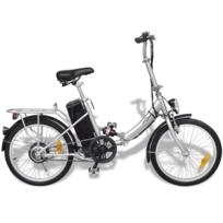 Vidaxl - Vélo électrique pliable en alliage d'aluminium et batterie lithium-ion