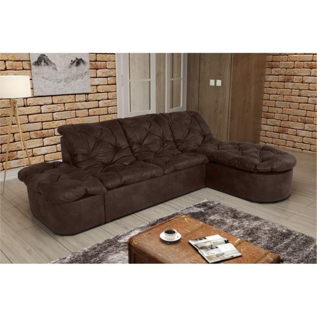 Rocambolesk Canapé Clac Lux L2P Tobago 14 brun sofa divan