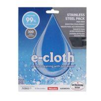 E-cloth - Pack Spécial Inox : 1 Lavette Acier Brossé Et Inox + 1 Chiffon Microfibres Lustrage