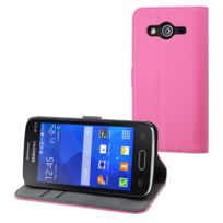 Muvit - Etui slim s folio rose pour Samsung Galaxy Core 2