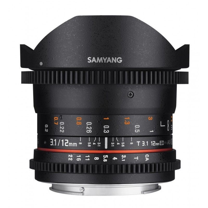12mm T3.1 ED AS NCS Fisheye VDSLR II monture Canon
