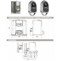 Somfy - Automatisme Motorisation portail coulissant Elixo 500 3S 24V pack standard Rts