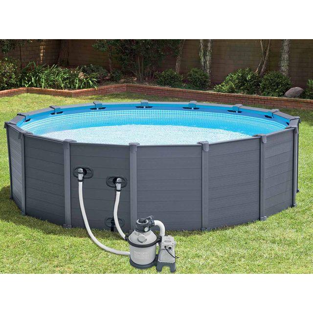 intex piscine graphite tubulaire 478 x 124 m - Liner Pour Piscine Intex Tubulaire