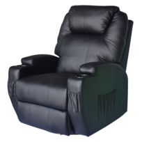 HOMCOM - Fauteuil de massage electrique chauffant sofa massant de relaxation 67