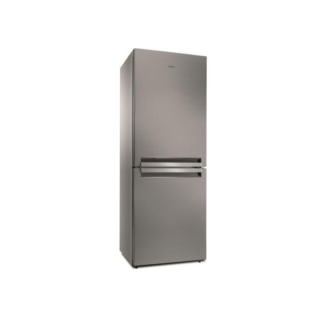 Whirlpool Réfrigérateur congélateur bas BTNF5012OX, 450l 302l+148l, A++ Nofrost inox largeur 70cm