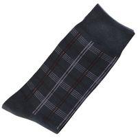 Marque Generique - Modebas.fr - Pack de 2 Paires Chaussettes Carreaux Homme Classique Coton Gris Foncé 43-45 - Gris Foncé