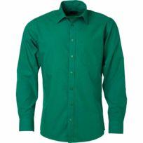 James   Nicholson - chemise popeline manches longues - Jn678 - homme - vert  irlandais 960db4f760a