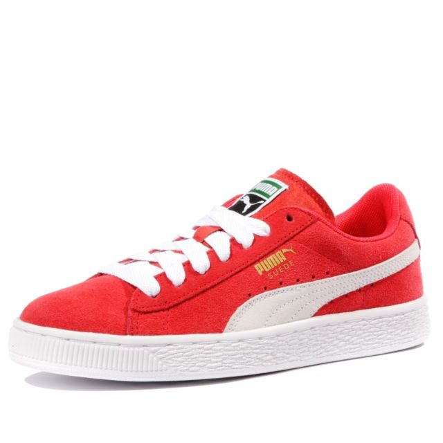 chaussures puma suede rouge